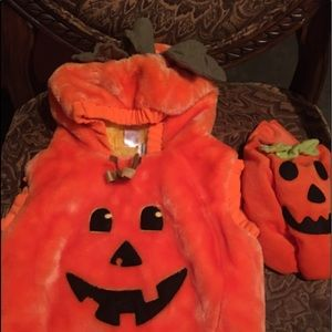 Pumpkin Costume Fleece 12-18 hoodie warm